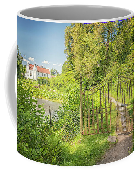 Wanas Coffee Mug featuring the photograph Wanas Castle Secret Gate by Antony McAulay