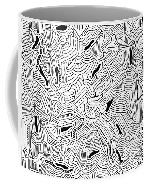 Mazes Coffee Mug featuring the drawing Wandering by Steven Natanson