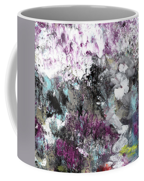 Abstract Coffee Mug featuring the painting Wanderlust- Abstract Art By Linda Woods by Linda Woods