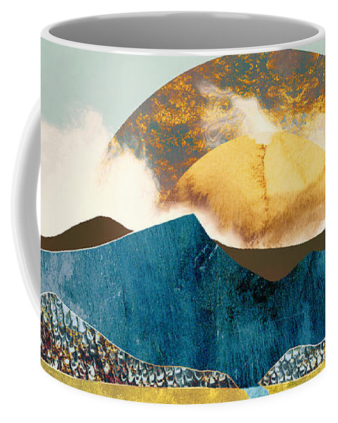 Mountains Coffee Mug featuring the digital art Wanderlust by Katherine Smit