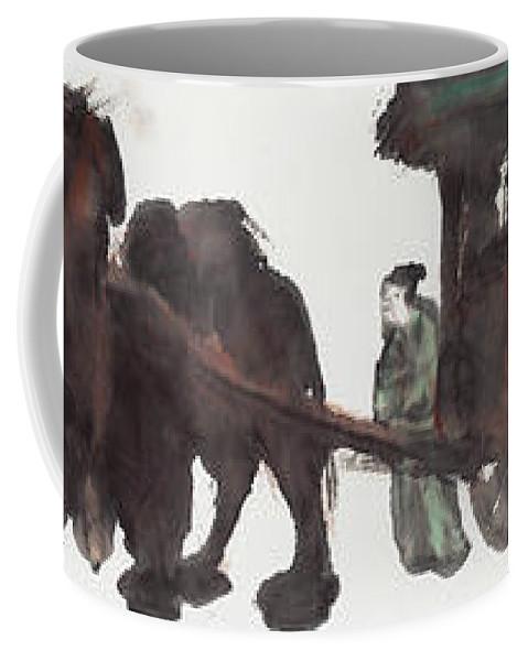 Wang Zhaojun Coffee Mug featuring the painting Wang Zhaojun by Wang Zhaojun