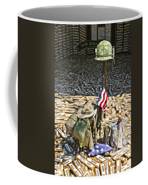 War Coffee Mug featuring the photograph War Dogs Sacrifice by Carolyn Marshall