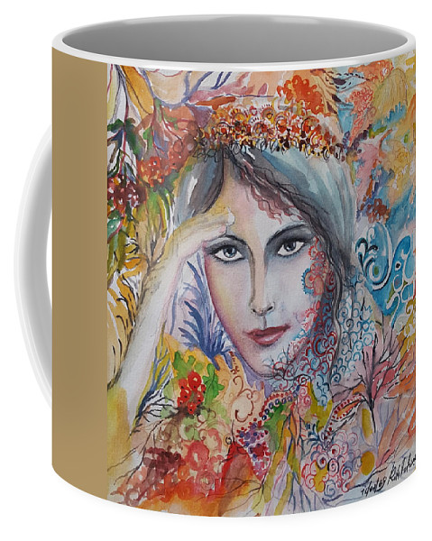 Autumn Coffee Mug featuring the painting Warm Autumn by Rita Fetisov