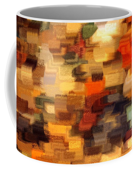 Abstract Coffee Mug featuring the photograph Warm Colors Abstract by Carol Groenen