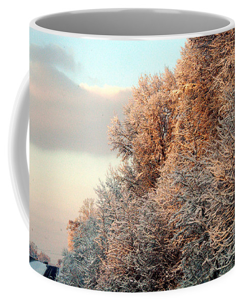 Clay Coffee Mug featuring the photograph Warm Light Snow by Clayton Bruster