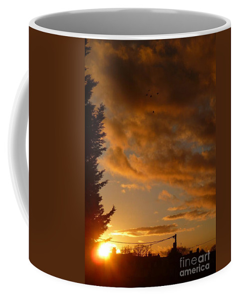 Warm Coffee Mug featuring the photograph Warm Sunset by Vicki Spindler