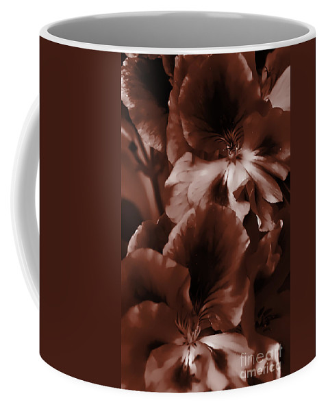 Clay Coffee Mug featuring the photograph Warm Tone Monochrome Floral Art by Clayton Bruster