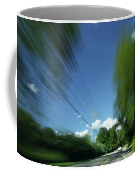 Action Coffee Mug featuring the photograph Warp Speed by Karol Livote