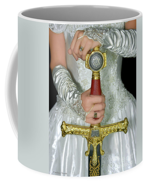 Warrior Bride Art Coffee Mug featuring the painting Warrior Bride Of Christ by Constance Woods