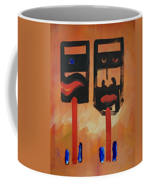 Warrior Coffee Mug featuring the painting Warriors by Charles Stuart