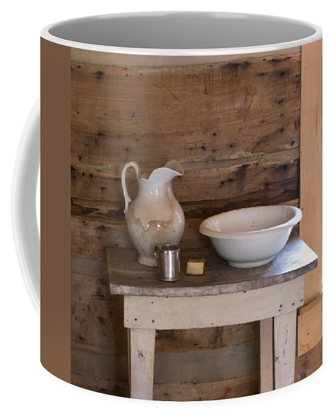 Wash Coffee Mug featuring the photograph Wash Bowl Pitcher And Cup by Douglas Barnett