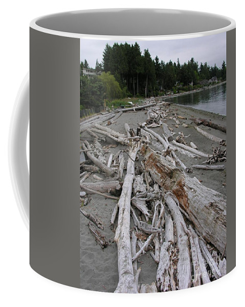 Beach Coffee Mug featuring the photograph Washed Up by Diane Greco-Lesser