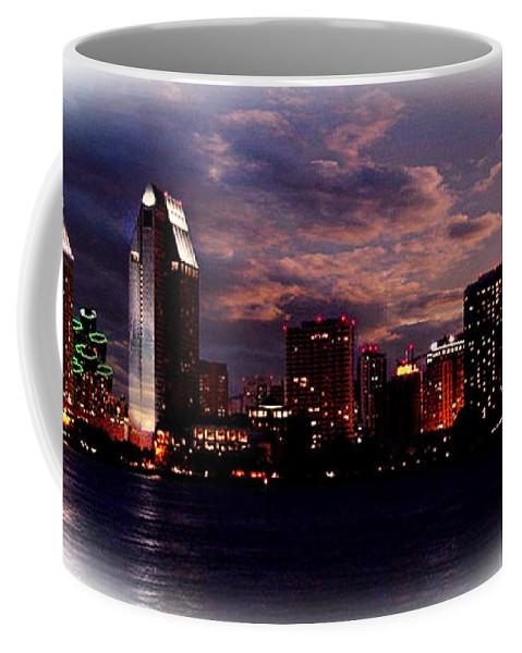Washington Dc Skyline Coffee Mug featuring the digital art Washington Dc Skyline by Rod Jellison