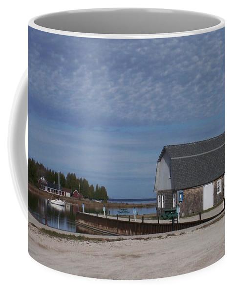 Washington Island Coffee Mug featuring the photograph Washington Island Harbor 1 by Anita Burgermeister