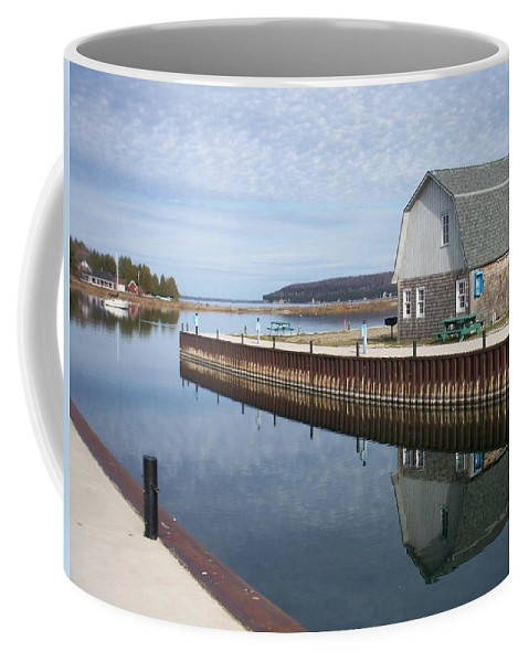 Washington Island Coffee Mug featuring the photograph Washington Island Harbor 2 by Anita Burgermeister