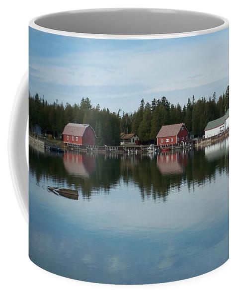 Washington Island Coffee Mug featuring the photograph Washington Island Harbor 5 by Anita Burgermeister