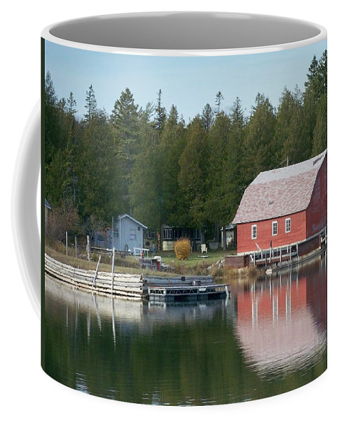 Washington Island Coffee Mug featuring the photograph Washington Island Harbor 6 by Anita Burgermeister