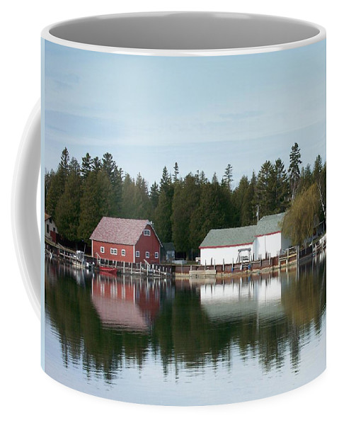 Washington Island Coffee Mug featuring the photograph Washington Island Harbor 7 by Anita Burgermeister