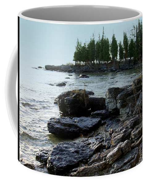 Washington Island Coffee Mug featuring the photograph Washington Island Shore 1 by Anita Burgermeister