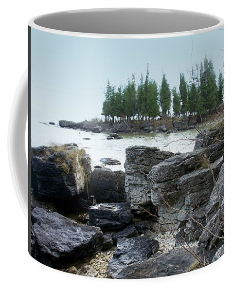 Washington Island Coffee Mug featuring the photograph Washington Island Shore 3 by Anita Burgermeister