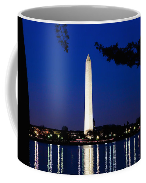 Landscape Coffee Mug featuring the photograph Washington Monument by John K Sampson