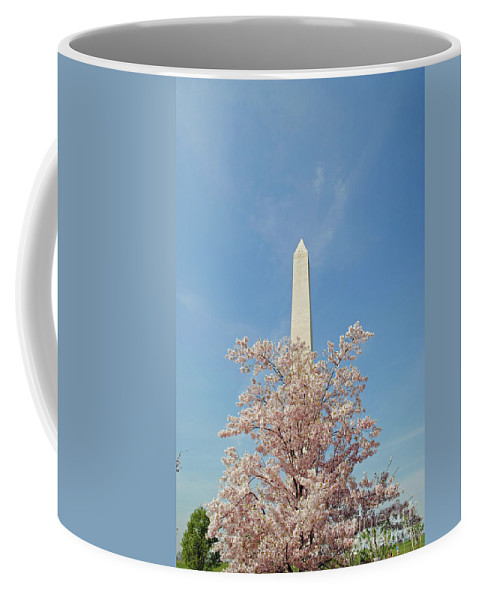 Cherry Coffee Mug featuring the photograph Washington Mounument by Jost Houk