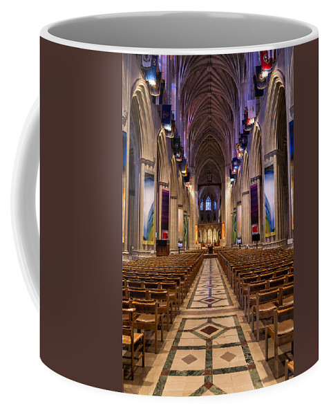 Washington National Cathedral Coffee Mug featuring the photograph Washington National Cathedral Interior by Belinda Greb