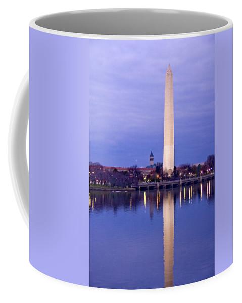 Washington Coffee Mug featuring the photograph Washington Refelection by Ches Black