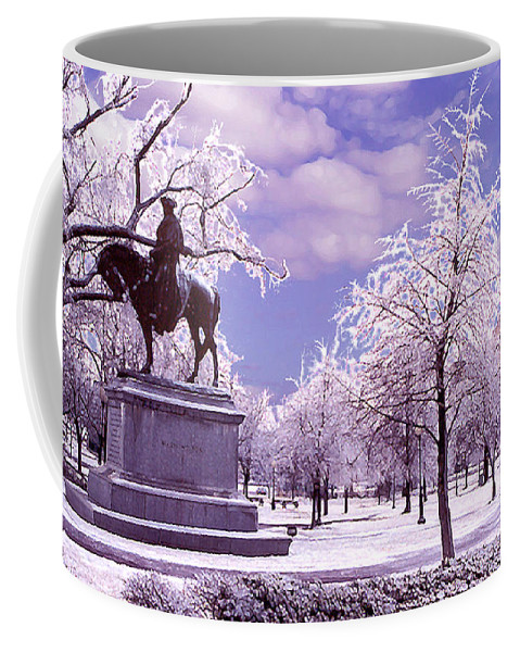Landscape Coffee Mug featuring the photograph Washington Square Park by Steve Karol