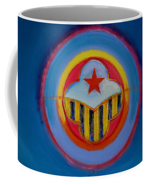 Button Coffee Mug featuring the painting Wasp by Charles Stuart