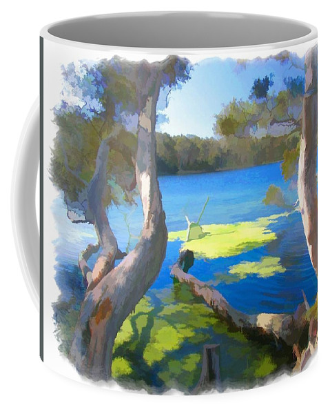 Tree Coffee Mug featuring the photograph Wat-0002 Avoca Estuary by Digital Oil