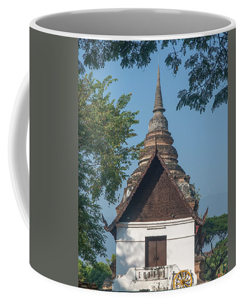 Scenic Coffee Mug featuring the photograph Wat Jed Yod Phra Ubosot Dthcm0967 by Gerry Gantt