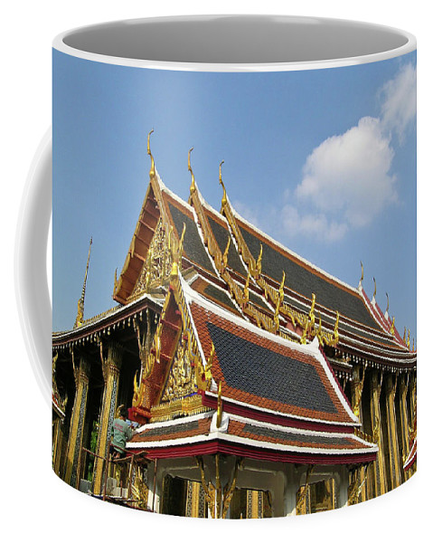 Wat Po Coffee Mug featuring the photograph Wat Po Bangkok Thailand 24 by Douglas Barnett