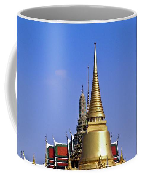 Wat Po Coffee Mug featuring the photograph Wat Po Bangkok Thailand 3 by Douglas Barnett