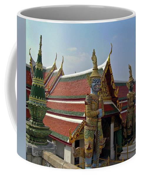 Wat Po Coffee Mug featuring the photograph Wat Po Bangkok Thailand 7 by Douglas Barnett