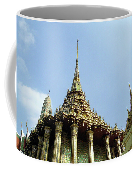 Wat Po Coffee Mug featuring the photograph Wat Po Bangkok Thailand 8 by Douglas Barnett