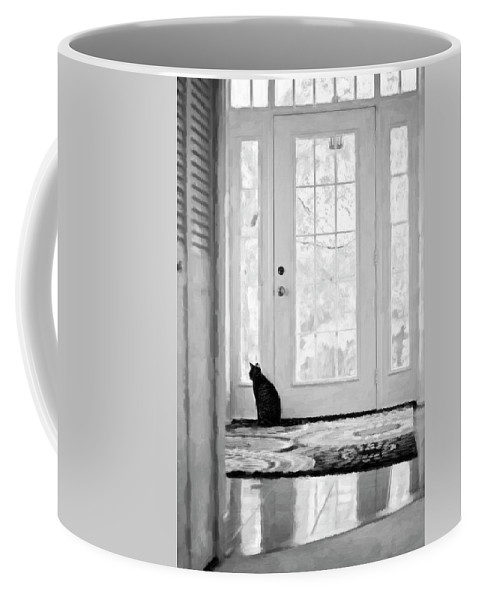 Animals Coffee Mug featuring the photograph Watch Cat by Sue Collura
