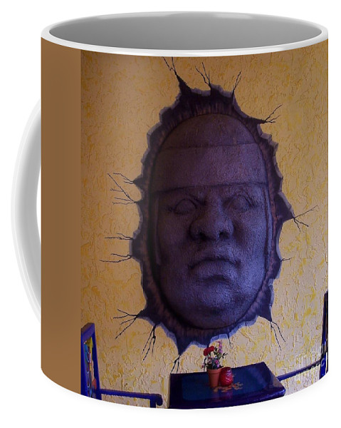 Face Coffee Mug featuring the photograph Watch What You Eat by Debbi Granruth