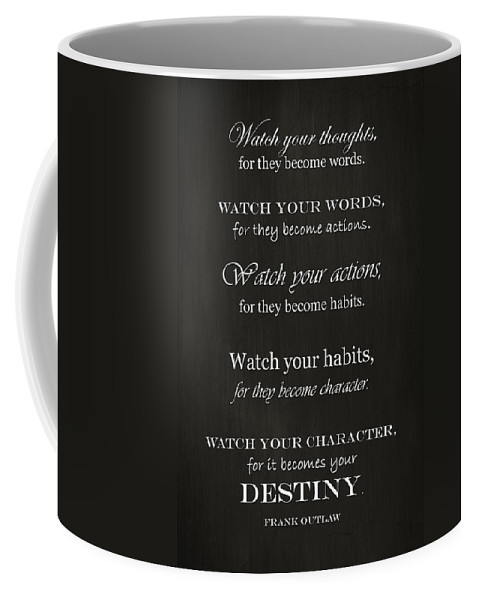 Watch Your Thoughts Coffee Mug featuring the photograph Watch Your Thoughts by Inspired Arts
