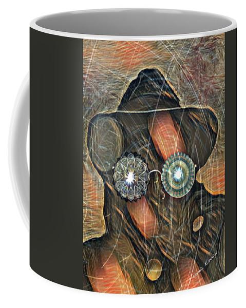 #venniekocsis #survivorvoices #art #artist #artistic #artlife #artists #artnerd #artsy #digitalartist #graphicart #painting #graphics #artwork #digitalart #arttherapy #creativity #creativityfound #creative #deepstate #watcher #artistcommunity #artoftheday #gallery Coffee Mug featuring the digital art Watchers by Vennie Kocsis