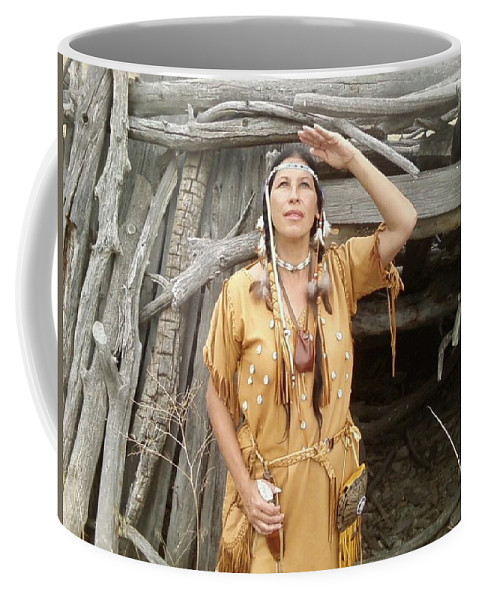Indian Coffee Mug featuring the photograph Watching For The Sign by Cindy New