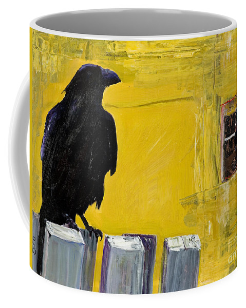 Pat Saunders-white Canvas Prints Coffee Mug featuring the painting Watching by Pat Saunders-White