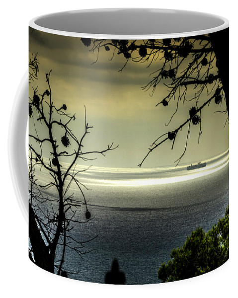 Barcelona Coffee Mug featuring the photograph Watching The Ships Go By by Wolfgang Stocker