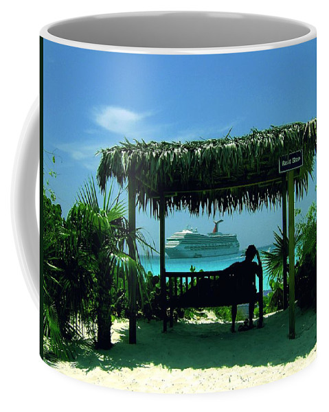 Half Moon Caye Coffee Mug featuring the photograph Watching The World Go By by Gary Wonning