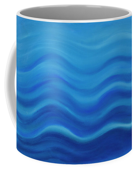 Water Coffee Mug featuring the painting Water by Adamantini Feng shui