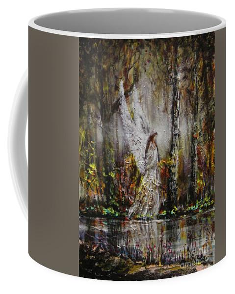 Lake Angel Coffee Mug featuring the painting Lake Angel by Dariusz Orszulik