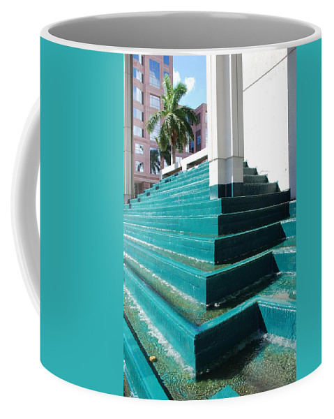 Architecture Coffee Mug featuring the photograph Water At The Federl Courthouse by Rob Hans