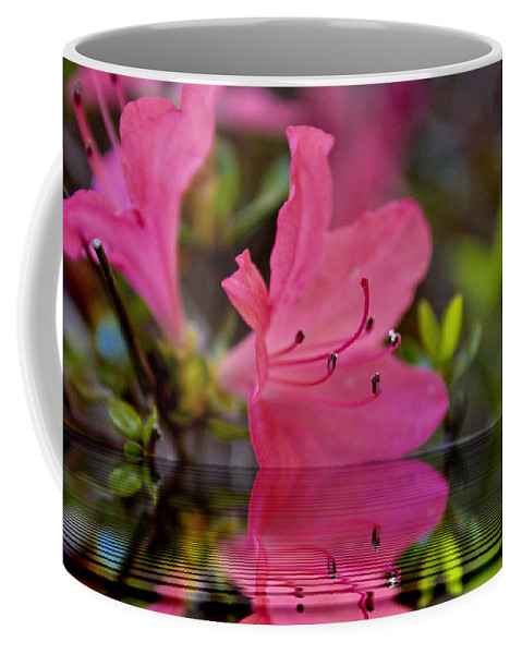 Water Coffee Mug featuring the digital art Water Azalea by Ches Black