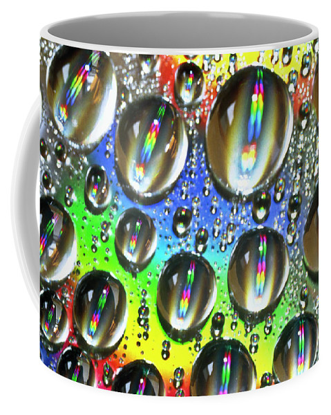 Heiko Coffee Mug featuring the photograph Water Beads And Spectrum Colors by Heiko Koehrer-Wagner