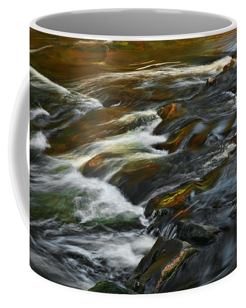 Water Rocks Stream Color Photography Photograph Coffee Mug featuring the photograph Water Colors by Shari Jardina